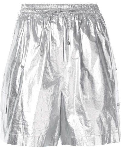 Серебряные шорты с карманами Juun.j