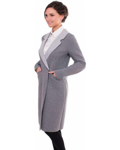Пальто на кнопках с отложным воротником с воротником J-splash