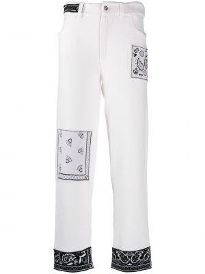 Хлопковые белые брюки на пуговицах Barrie