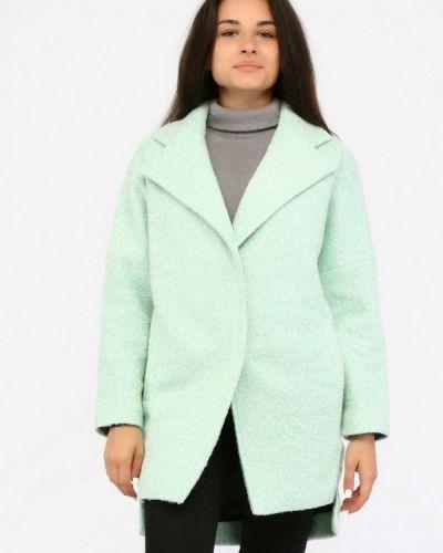 Бирюзовое пальто с капюшоном Sfn