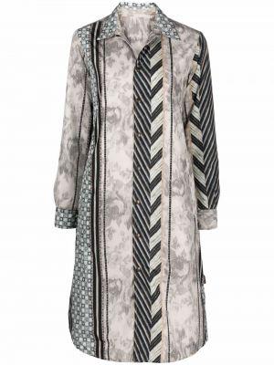 Серое пальто из полиэстера Pierre-louis Mascia