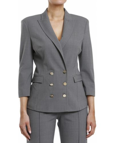 Пиджак шерстяной серый Elisabetta Franchi