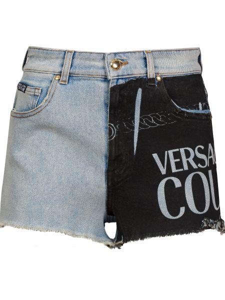 Хлопковые шорты на молнии Versace Jeans Couture