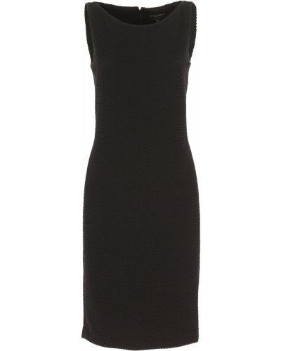 Czarna sukienka wieczorowa bez rękawów bawełniana Emporio Armani