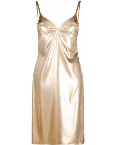 Złota sukienka mini Murmur