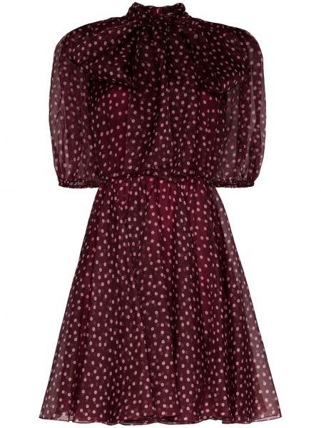 Платье мини в горошек на молнии Dolce & Gabbana