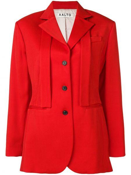 Однобортный красный пиджак Aalto