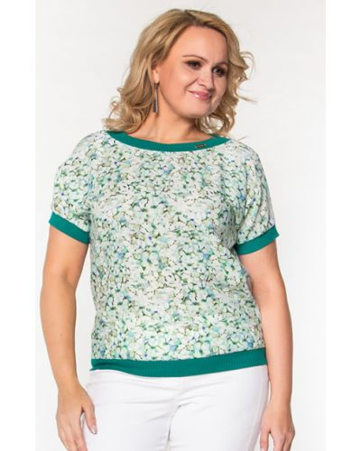 Блузка с короткими рукавами - зеленая Virgi Style