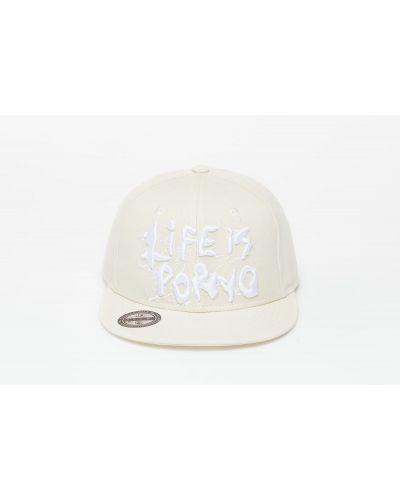 Beżowa czapka Life Is Porno