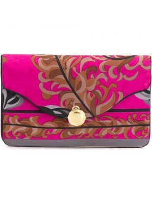 Шелковая розовая сумка на пуговицах Emilio Pucci Pre-owned