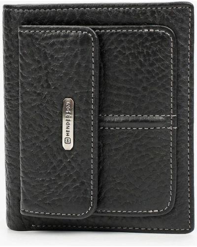 Кожаный кошелек - черный Henderson