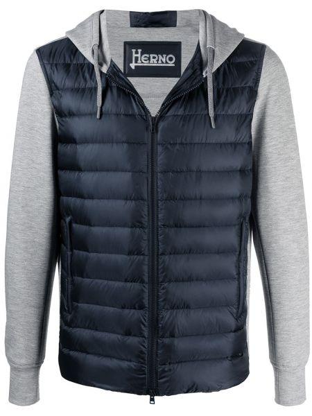 Niebieski bawełna pikowana kurtka Herno
