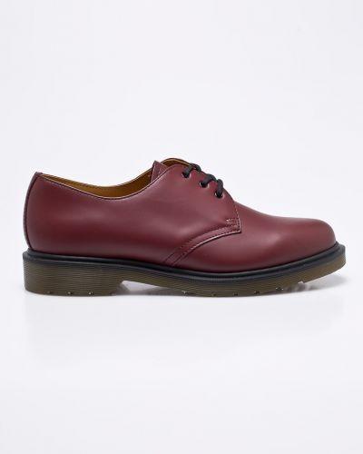 Кожаные туфли на шнуровке текстильные Dr. Martens
