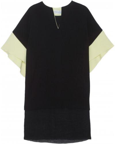 Свободное шелковое черное платье Chapurin