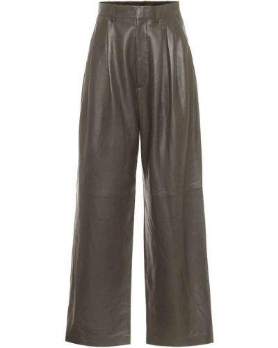 Кожаные зеленые брюки свободного кроя Dodo Bar Or