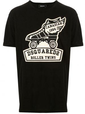 Koszula krótkie z krótkim rękawem z nadrukiem z logo Dsquared2