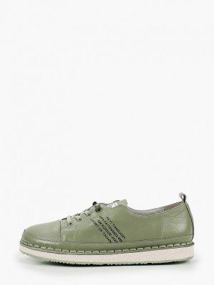 Зеленые кожаные ботинки Ridlstep