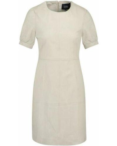Biała sukienka skórzana na co dzień Ibana