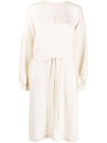 Платье с рукавами на пуговицах с вырезом свободного кроя круглое Raquel Allegra