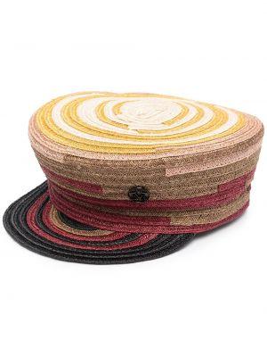 Brązowy kapelusz Maison Michel