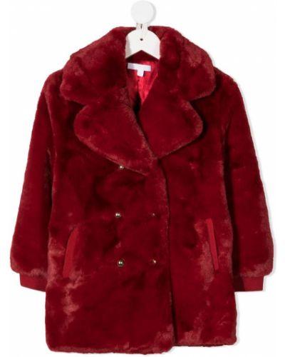 Prążkowany płaszcz z długimi rękawami Chloé Kids