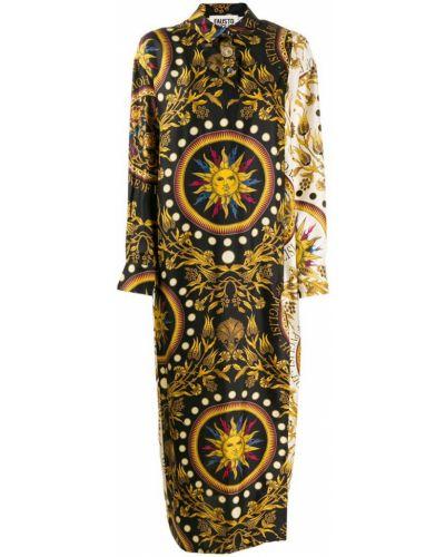Платье макси на пуговицах классическое Fausto Puglisi