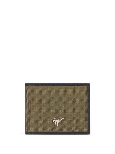 Skórzany portfel skórzany khaki z gniazdem Giuseppe Zanotti