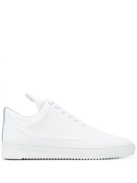 Skórzane sneakersy białe sznurowane Filling Pieces