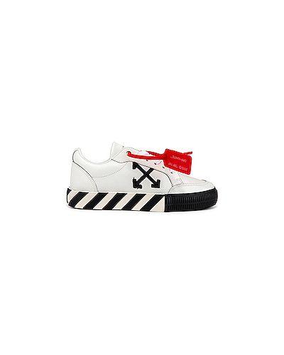 Кожаные кроссовки с логотипом белый Off-white