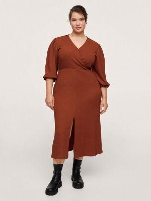 Оранжевое зимнее платье Violeta By Mango