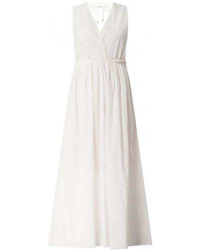 Sukienka rozkloszowana z falbanami - różowa Ilse Jacobsen