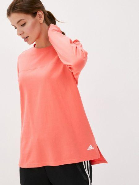 Красный лонгслив Adidas
