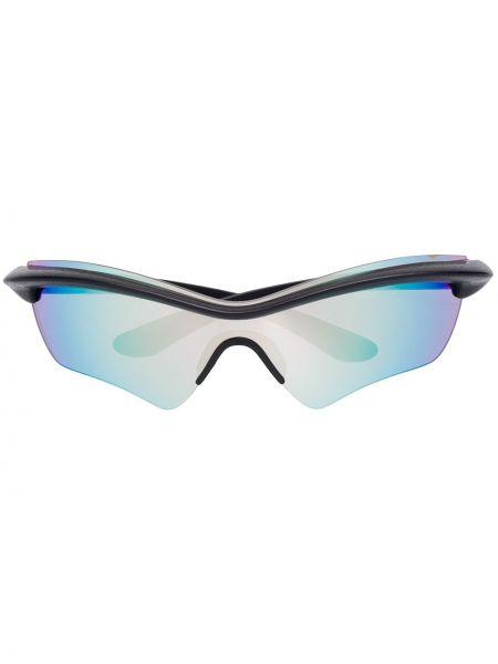 Прямые черные солнцезащитные очки с завязками Mykita