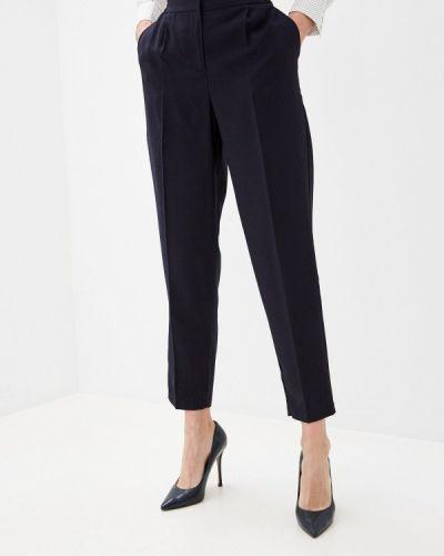 Синие кожаные брюки Zarina