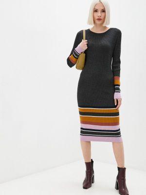 Вязаное платье - серое Ichi