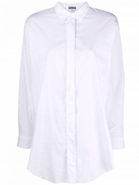 Хлопковая белая классическая рубашка с длинными рукавами Kristensen Du Nord