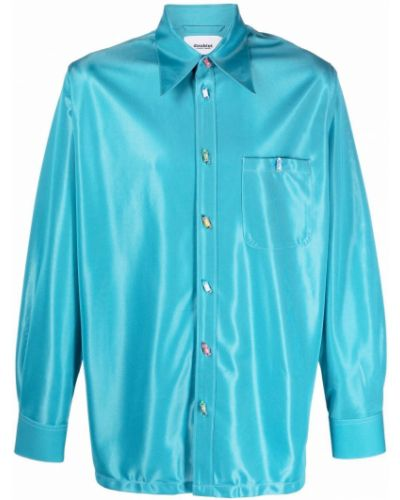 Niebieska koszula zapinane na guziki Doublet