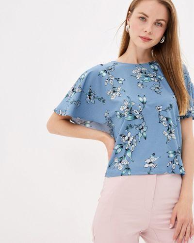 Блузка с коротким рукавом синяя Zarina
