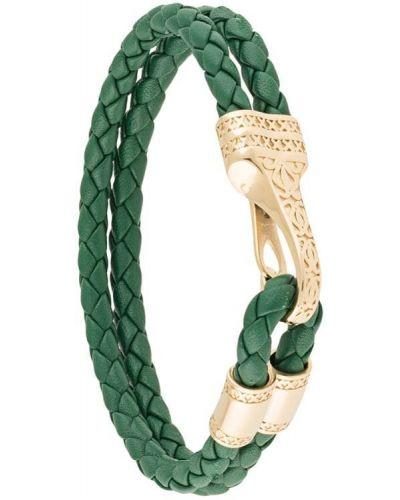 Zielona złota bransoletka ze złota pozłacana Nialaya Jewelry