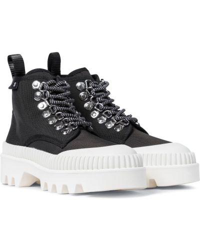 Городские текстильные черные ботинки Proenza Schouler
