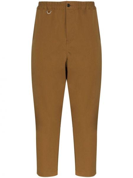 Прямые брюки с поясом пэчворк на пуговицах новогодние Sophnet.