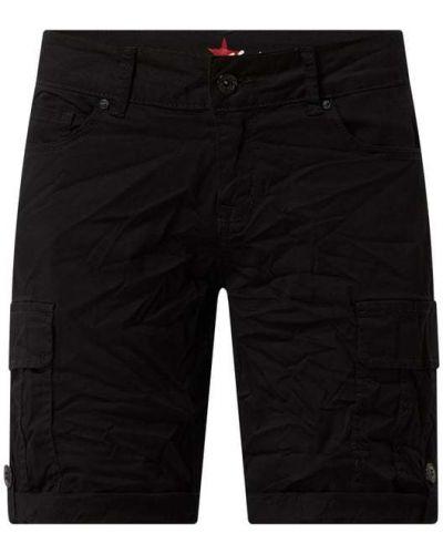 Czarne szorty cargo bawełniane Buena Vista