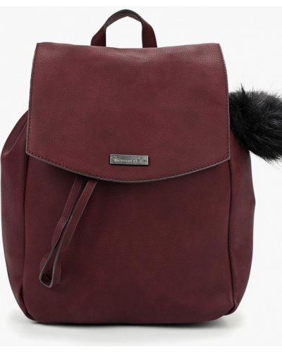 Рюкзак бордовый красный Tamaris