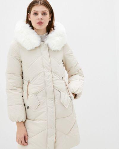 Бежевая утепленная куртка Rinascimento