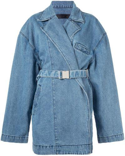 Платье макси с карманами с лацканами Pony Stone