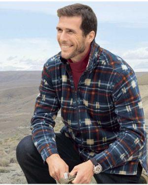 Рубашка с длинным рукавом в клетку с карманами Atlas For Men