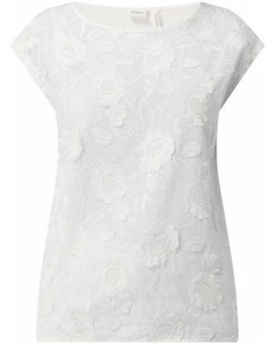 T-shirt bawełniana - biała S.oliver Black Label