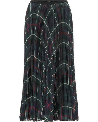Плиссированная юбка миди шотландка Polo Ralph Lauren
