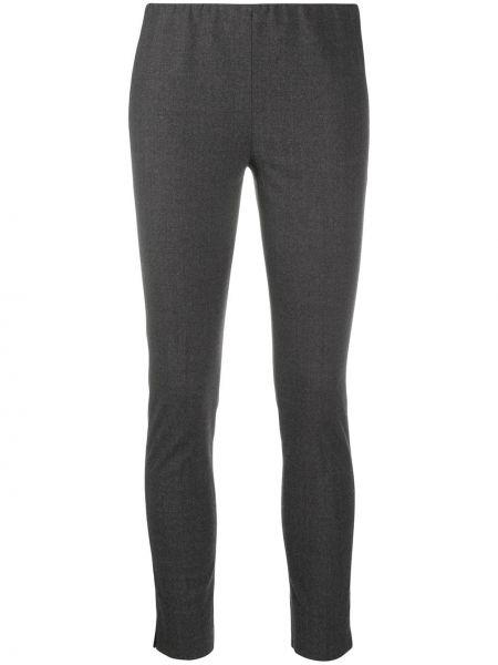 Шерстяные серые брюки с поясом Antonelli