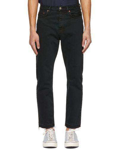 Czarne jeansy vintage z paskiem Harmony